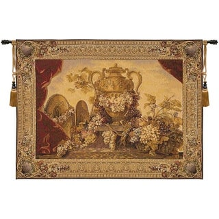 Decorative Vase and Grapes Tapestry