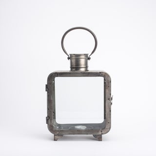 Distressed Iron Lantern - Square