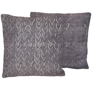 Handmade 20-inch Indo Printed Cotton Pillows (Set of 2)
