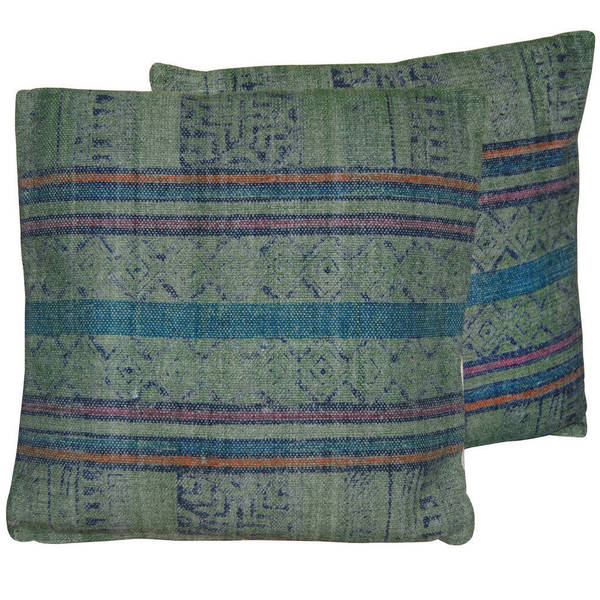 Herat Oriental Handmade Indo Kilim 20-inch Throw Pillows (Set of 2)