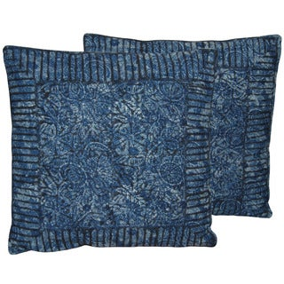 Herat Oriental Indo Handmade Printed Cotton 20'' Pillows (Set of Two)