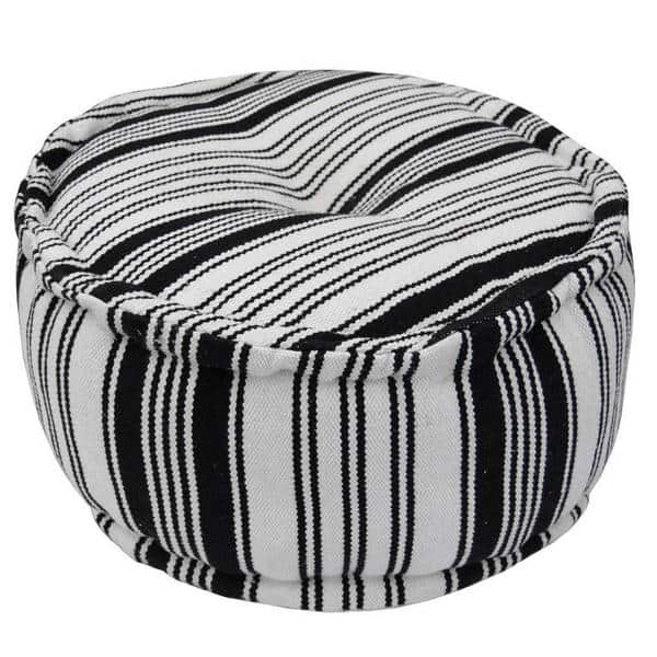 Peachy Shop Handmade Striped Cotton Round Ottoman India On Sale Pdpeps Interior Chair Design Pdpepsorg