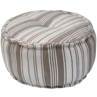 Herat Oriental Indo Handmade Striped Cotton Round Puff