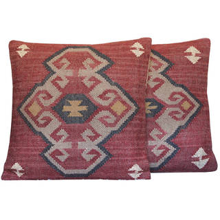 """Link to Handmade 20"""" Wool and Jute Pillow, Set of 2 Similar Items in Decorative Accessories"""