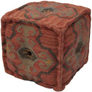 Herat Oriental Indo Handmade Wool/ Jute Puff
