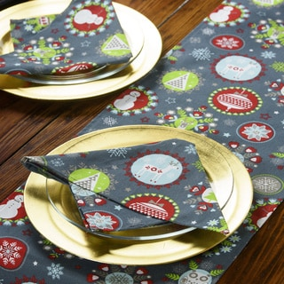 Holiday Cheer Christmas napkins Set of 4