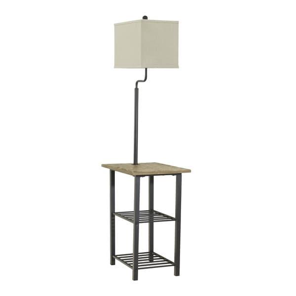 Shianne Black 58 Inch Metal Tray Lamp