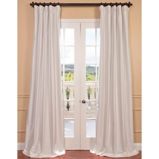 "EFF Faux Silk Taffeta Solid Blackout Curtain Panel (Eggshell/96""L)(As Is Item)"