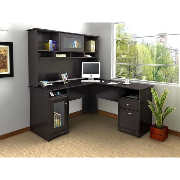 Attractive Cabot L Shaped Desk With Hutch   Free Shipping Today   Overstock.com    17815576