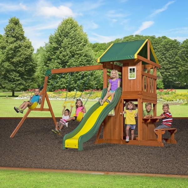 Shop Backyard Discovery Oakmont All Cedar Swing Set Play Set Free