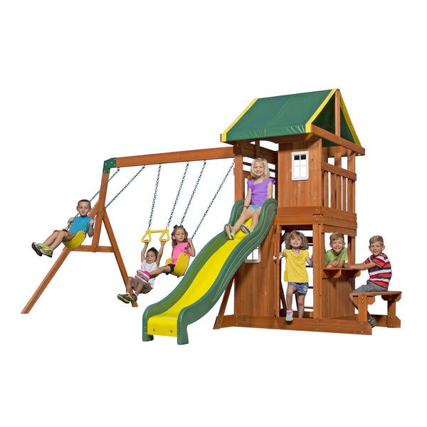 Backyard Discovery Oakmont All Cedar Swingset