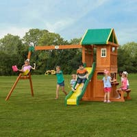Backyard Discovery Oakmont All Cedar Swing Set Play Set