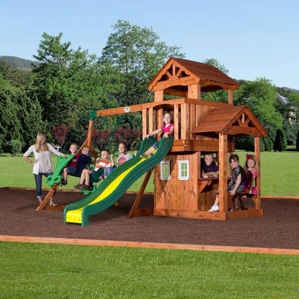 Shop Backyard Discovery Tanglewood All Cedar Swing Set Play Set