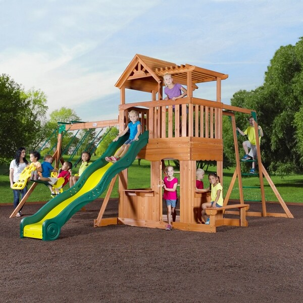 Shop Backyard Discovery Thunder Ridge All Cedar Swing Set Play Set