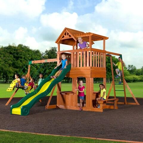 Backyard Discovery Thunder Ridge All Cedar Swing Set Play Set