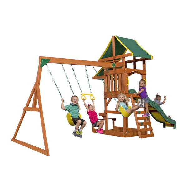 Shop Backyard Discovery Tucson All Cedar Swingset 108