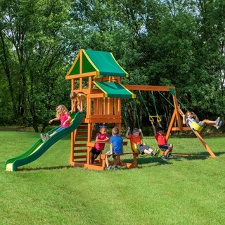 Backyard Discovery Tucson Brown All Cedar Swing Set Play Set