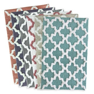 Jessica Simpson Quatrefoil Cotton Bath Rug (5 options available)