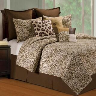 Sabi Leopard Print Sands Quilt (Shams Not Included)