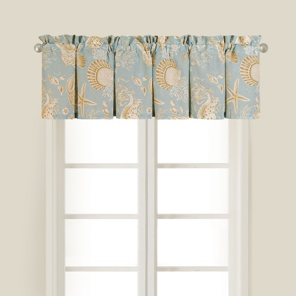 awesome Valance Set Part - 19: Natural Shell Cotton Valance (Set of 2)
