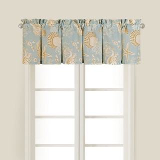 Natural Shell Cotton Valance (Set of 2)