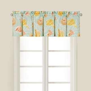 St. Martin Blue Cotton Seascape Valance (Set of 2)