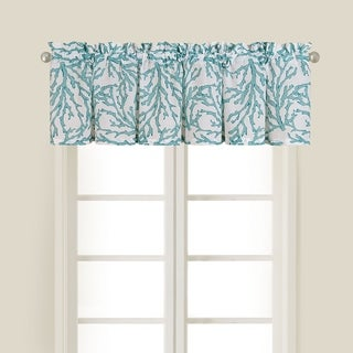 Cora Blue Cotton Valance (Set of 2)