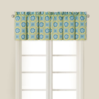 Delilah Blue Cotton Valance Set/2