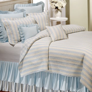 Amanda Blue Cotton Reversible Quilt (Shams Not Included)