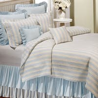 Amanda Blue Cotton Reversible Quilt (Shams Not Included)