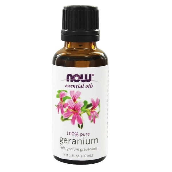 Now Foods Geranium 1-ounce Essential Oil. Opens flyout.