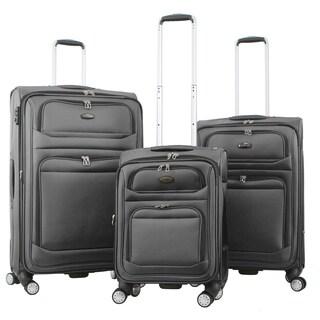 Gabbiano Valencia Two-tone Ballistic Nylon 3-piece Expandable Spinner Luggage Set
