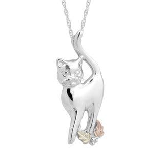 Black Hills Gold over Silver Cat Pendant|https://ak1.ostkcdn.com/images/products/10763466/P17815667.jpg?impolicy=medium