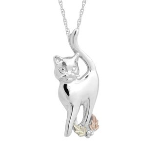Black Hills Gold over Silver Cat Pendant