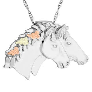 Black Hills Gold on Silver Double Horse Pendant|https://ak1.ostkcdn.com/images/products/10763477/P17815677.jpg?impolicy=medium