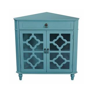Heather Ann Heirloom Style One (1) Drawer Corner Accent Cabinet