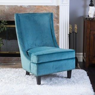 velvet living room chairs shop the best deals for sep - Blue Velvet Chair