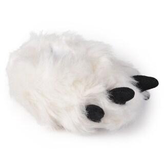 Journee Kid's Bear Foot Plush Slippers