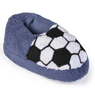 Journee Kid's Sport Plush Slippers