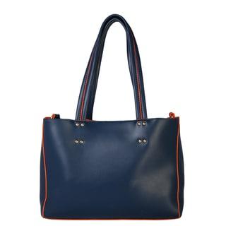 Diophy Double Tassels Studded Handbag