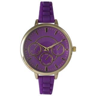 Olivia Pratt Women's Fashionable Skinny Silicone Watch