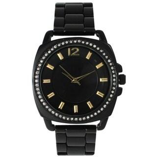 Olivia Pratt Women's Stainless Steel Black Dial Watch