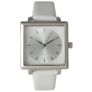 Olivia Pratt Women's Sleek Squared Leather Watch