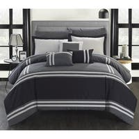Carbon Loft Daniels Grey Stripe Border 10-piece Bed in a Bag