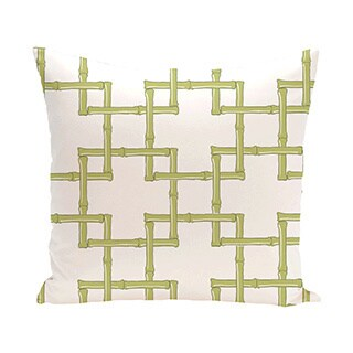 Bambies 2 Geometric Print Outdoor Pillow