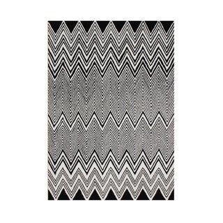 Alliyah Hand Made Black New Zealand Blend Wool Rug 5x8