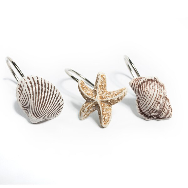 12 piece hand crafted sea shells and starfish scuba jewels