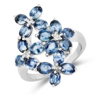 Olivia Leone 3.74 Carat Genuine Blue Sapphire .925 Sterling Silver Ring