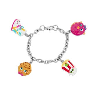 Shopkins Silvertone Children's Sneak Wedge Charm Bracelet