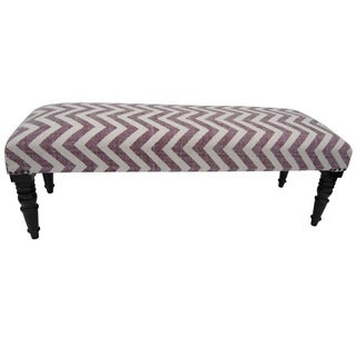 Herat Oriental Indo Handmade Cotton-upholstered Wooden Bench